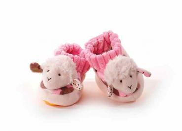 Schaf Babyschuhe, rosa (für Erstlinge)